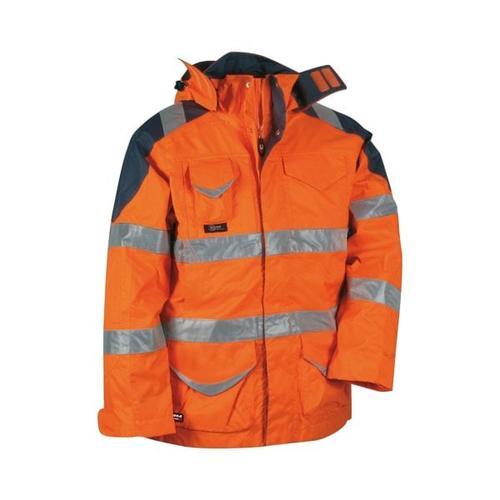 Warnschutz 4in1 Winterjacke »PROTECTION« Größe 50 orange, Cofra