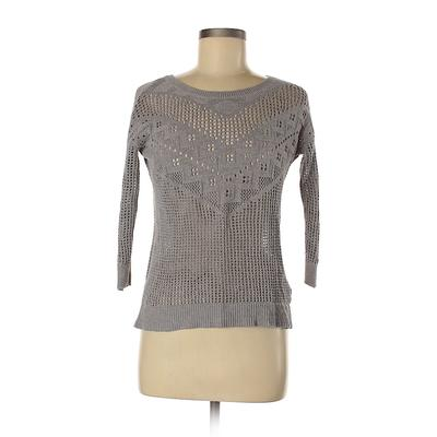 American Eagle Outfitters Pullover Sweater: Gray Solid Tops - Size X-Small