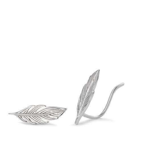 Ohrschieber Silber rhodiniert