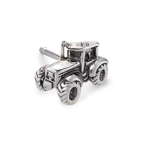 Ohrstecker 1 Stk Silber Traktor 8 x 7 mm