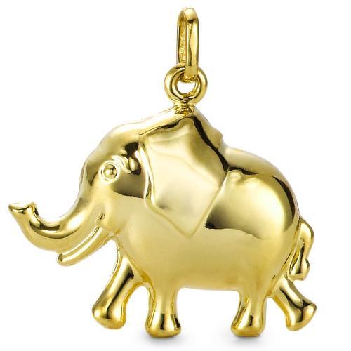 Anhänger 375/9 K Gelbgold Elefant