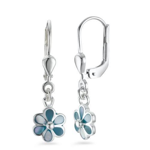 Ohrhänger Silber Perlmutt Blume