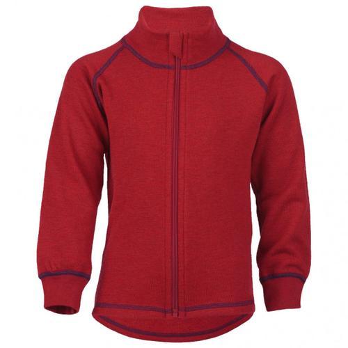 Engel - Kinder-Zip-Jacke Mit Kinnschutz - Wolljacke Gr 128 rot