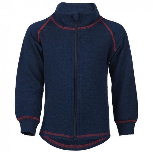 Engel - Kinder-Zip-Jacke Mit Kinnschutz - Wolljacke Gr 116 blau/schwarz