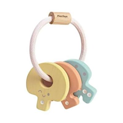 Plan Toys - Baby Key Rattle - PRIMARY