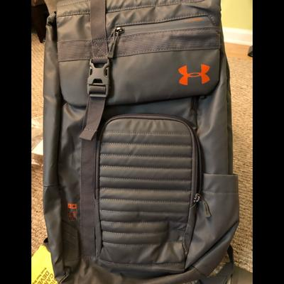 Under Armour Bags   Grey-Orange Backpack. Under Armour   Color: Gray/Orange   Size: Os