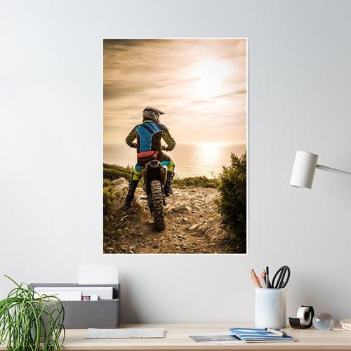 Enduro Fahrradfahrer Poster