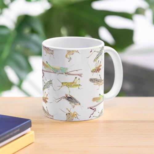 Ein Gemisch von Heuschrecken und Heuschrecken Tasse
