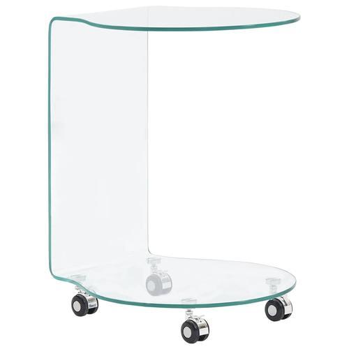 vidaXL Couchtisch 45 x 40 x 58 cm Hartglas
