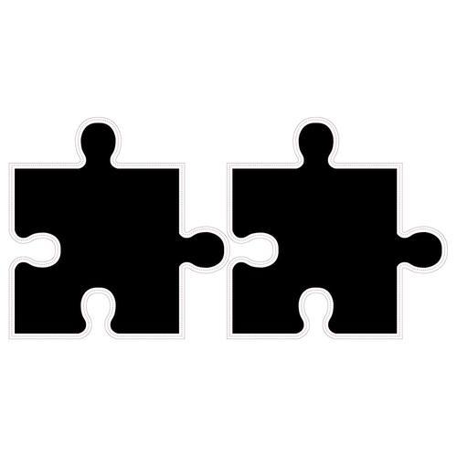 WALPLUS Tafel-Aufkleber Puzzle 54×54 cm Schwarz