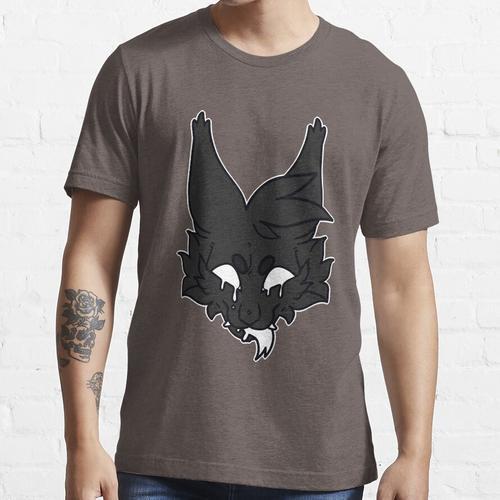 graue Katze und Kerzenwachs Essential T-Shirt