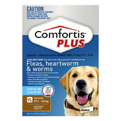 Comfortis Plus For Very Large Dogs 60.1 - 120lbs Brown 6 Chews
