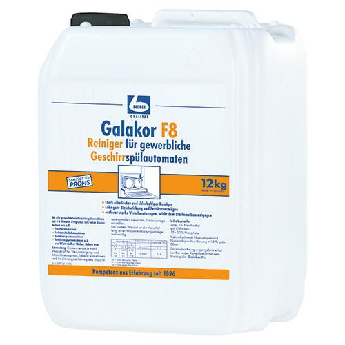 """""""Dr. Becher 12 kg """"""""Dr. Becher"""""""" Galakor F8 Reiniger 9,2 l für gewerbl. Geschirrspülmaschinen"""""""