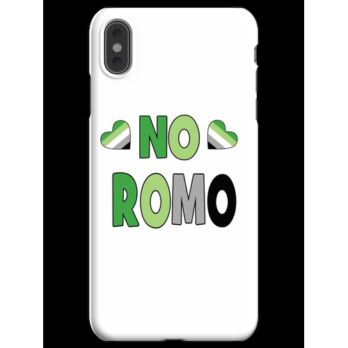 Kein Romo-Geschenk Aromantic Aromantic Gift Kein Romo Kein romantisches Ges iPhone XS Max Handyhülle