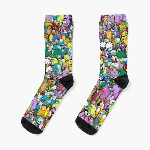 Abenteuer Zeit Zeichen Stickerbombing Socken