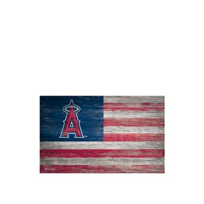 Fan Creations Red MLB Los Angeles Angels 11 in x 19 in Distressed Flag