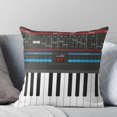 Roland Juno-106 Synthesizer Keyboard Throw Pillow