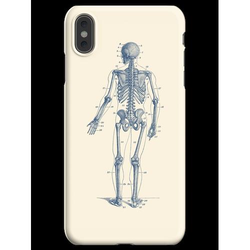 Rückwärtsgerichtetes Skelett-Diagramm iPhone XS Max Handyhülle