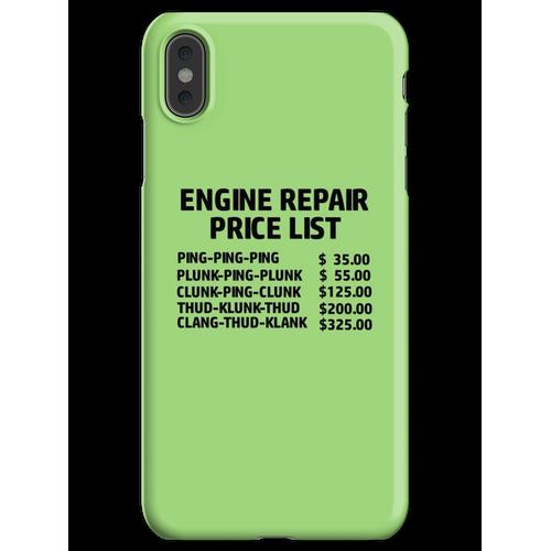 Preisliste für Motorreparatur iPhone XS Max Handyhülle