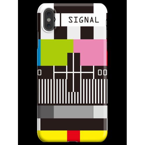 Fernseh-Testbildschirm Kein Signal iPhone XS Max Handyhülle
