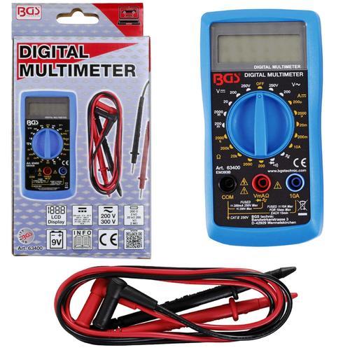 Bgs Digital-multimeter Messgerät Acdc 250v Voltmeter Amperemeter 10a Ohm Art-nr.: 63400