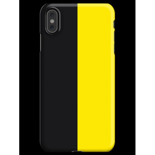 Watford Schwarzes und Gelbes Halbes Trikot iPhone XS Max Handyhülle