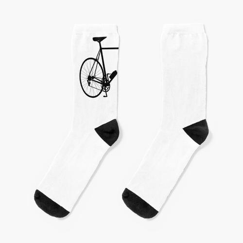RENNRAD. Rennrad-Silhouette. Socken