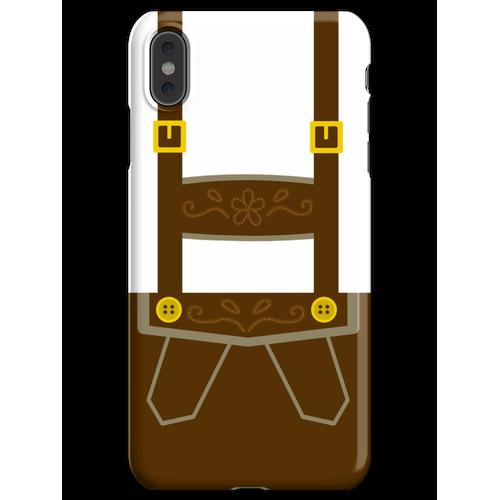 Lederhosen iPhone XS Max Handyhülle