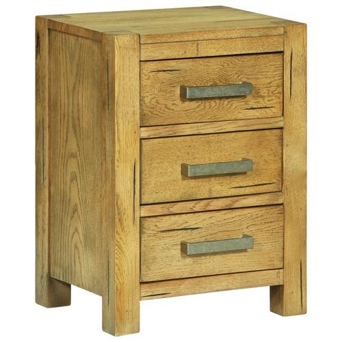 vidaXL Nachttisch mit 3 Schubladen 40x30x54 cm Rustikales Eichenholz