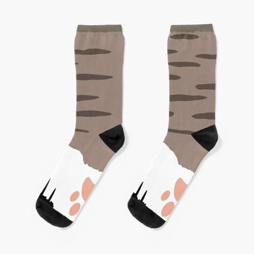 Katzenpfote Socken braun Socken