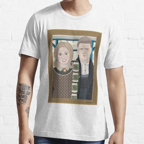 American Gothic Mit Einer Seite Von Tartar Sauce Essential T-Shirt