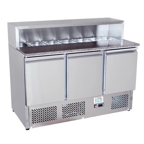 ICE-A-COOL 3 türige Pizza Saladette mit Granitplatte