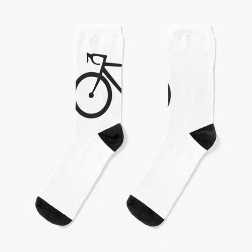 Rennrad. Rennrad, Fahrrad, Fahrrad, Rennrad, Push-Bike, Schwarz auf Weiß. Socken