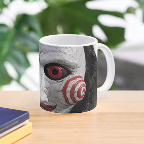 billy the puppet merch! Mug