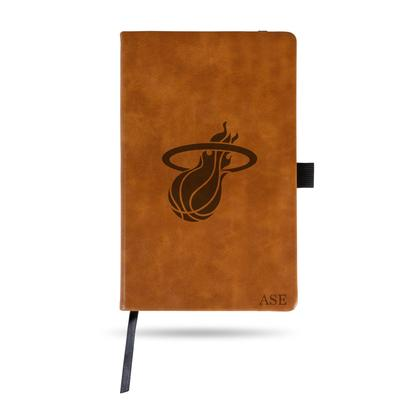 """Sparo Brown Miami Heat Small Personalized Notepad"""