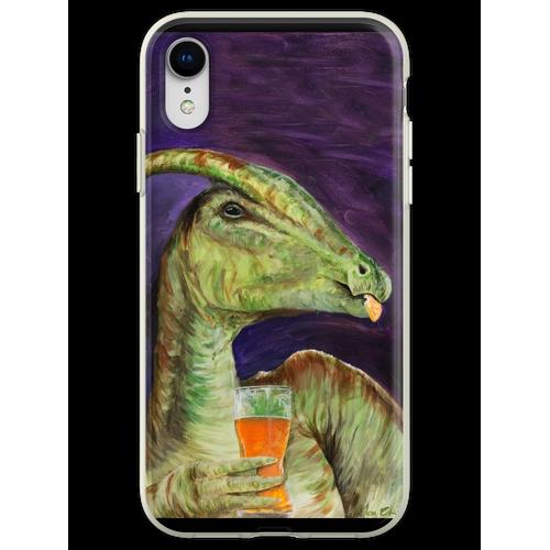Parasaurolophus trinken Hefeweizens Flexible Hülle für iPhone XR