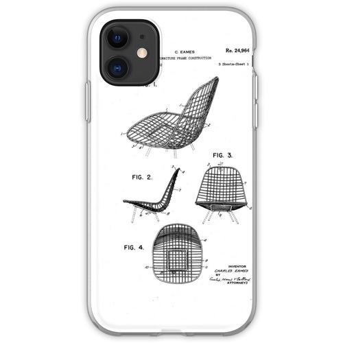 Eames - Draht Stuhl - Patent Artwork Flexible Hülle für iPhone 11