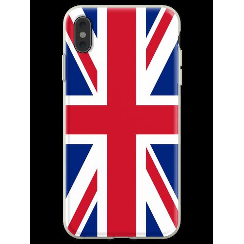UK Union Jack Fahne Flagge Flexible Hülle für iPhone XS Max
