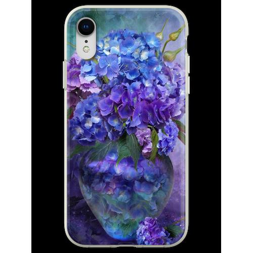 Hortensien in Hortensie Vase Flexible Hülle für iPhone XR