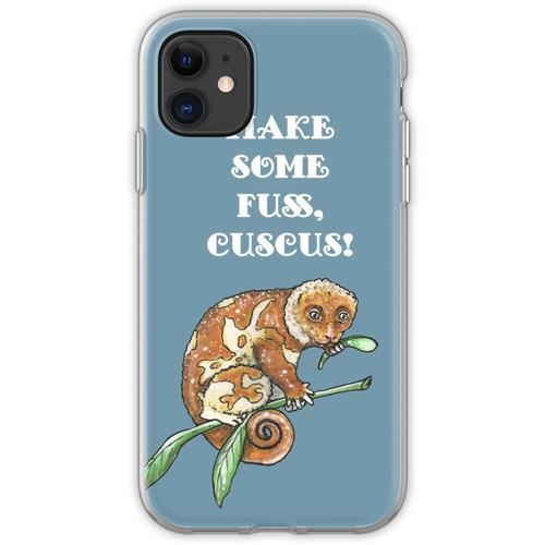 Beschmutzter Kuskus - Tierserie Flexible Hülle für iPhone 11