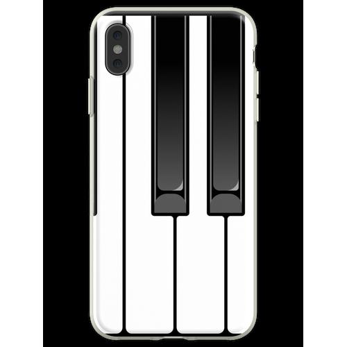 Klavier Oktave Flexible Hülle für iPhone XS Max