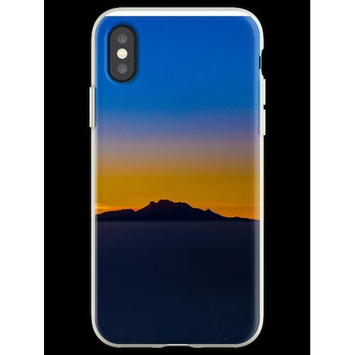 Popocatepetl und Iztaccihuatl Flexible Hülle für iPhone XS