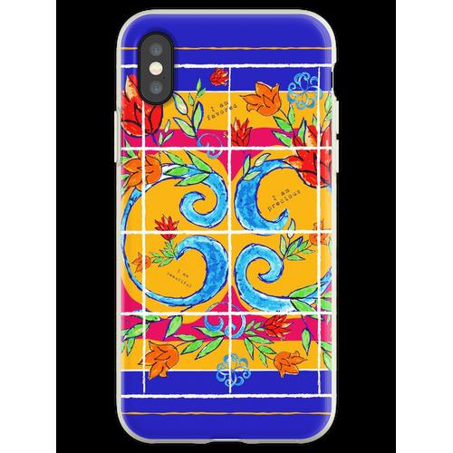 Majolika-Fliesen, Majolika-Design, Majolika Italien Flexible Hülle für iPhone XS