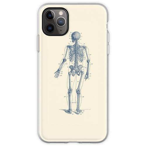 Rückwärtsgerichtetes Skelett-Diagramm Flexible Hülle für iPhone 11 Pro Max