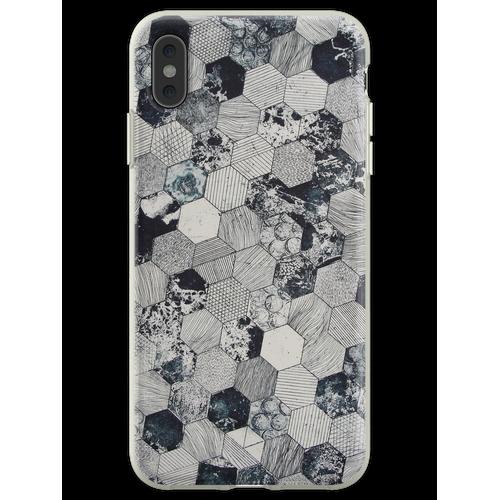 Hexagon Fliesen Flexible Hülle für iPhone XS Max