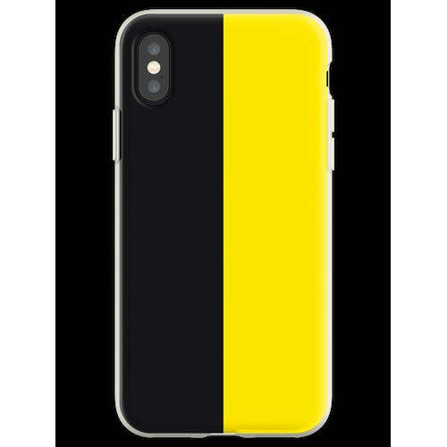 Watford Schwarzes und Gelbes Halbes Trikot Flexible Hülle für iPhone XS