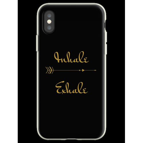 Yoga Inhalieren Exhale Design Flexible Hülle für iPhone XS