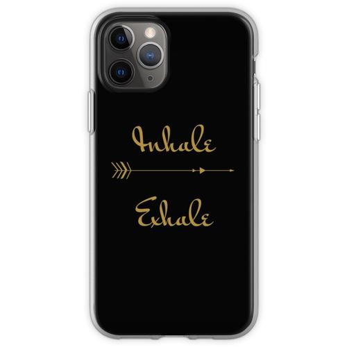 Yoga Inhalieren Exhale Design Flexible Hülle für iPhone 11 Pro