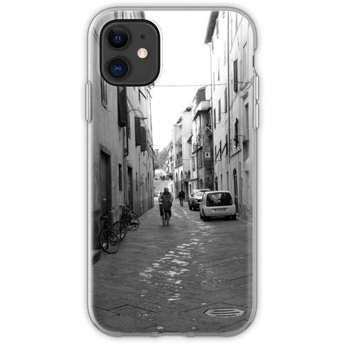 Mann auf dem Fahrrad, Lucca, Toskana, Italien Flexible Hülle für iPhone 11