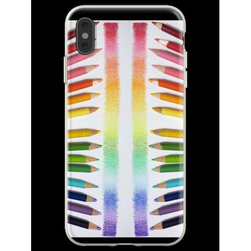 Buntstift Regenbogen Flexible Hülle für iPhone XS Max